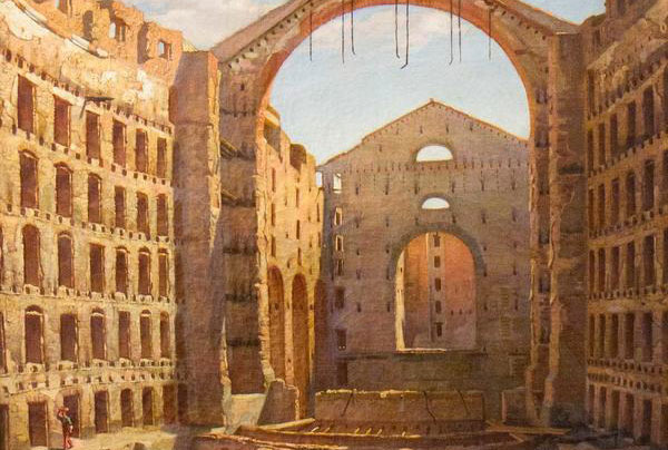 El Gran Teatre del Liceu després de l'incendi de 1861