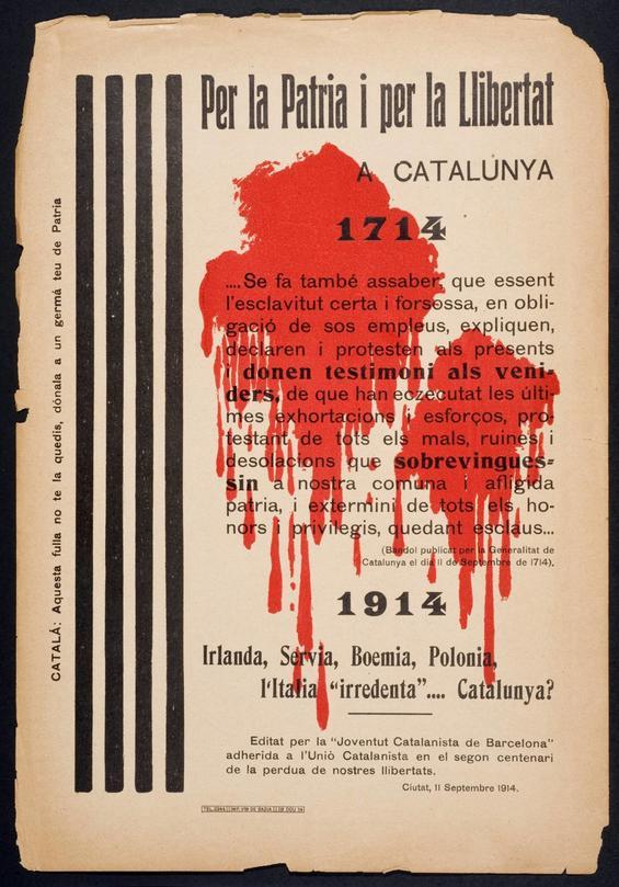 Manifest 200 aniversari. Joventut Catalanista de Barcelona. 1914