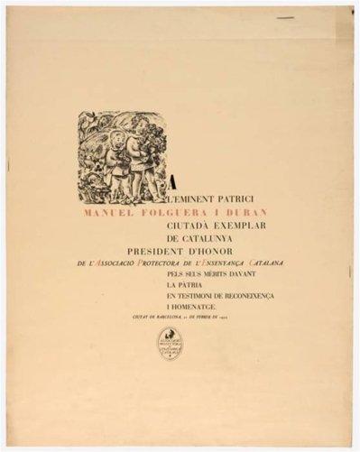 Diploma de l'Associació Protectora de l'Ensenyança Catalana, de Josep Obiols (1932)
