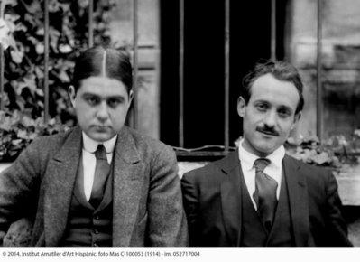Retrat d'Ismael Smith i Josep de Togores, l'any 1914