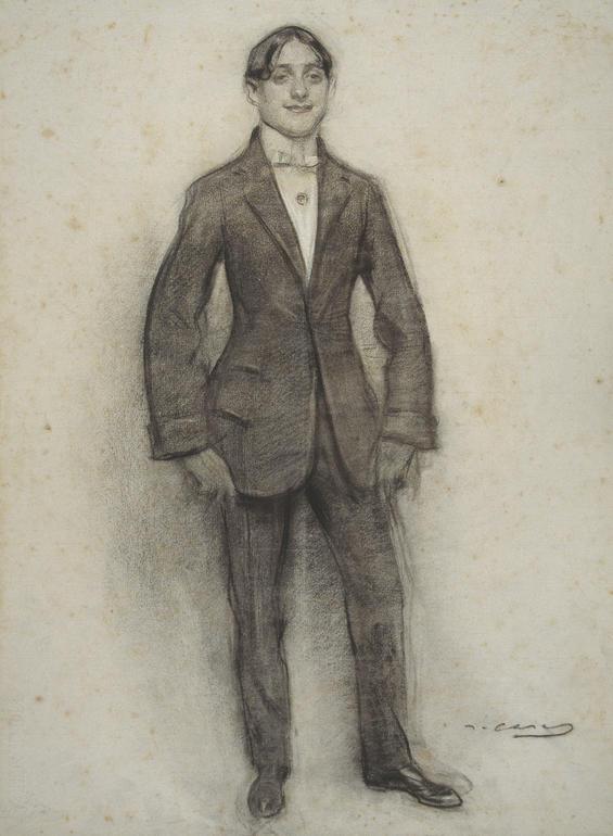Retrat d'Ismael Smith realitzat per Ramon Casas