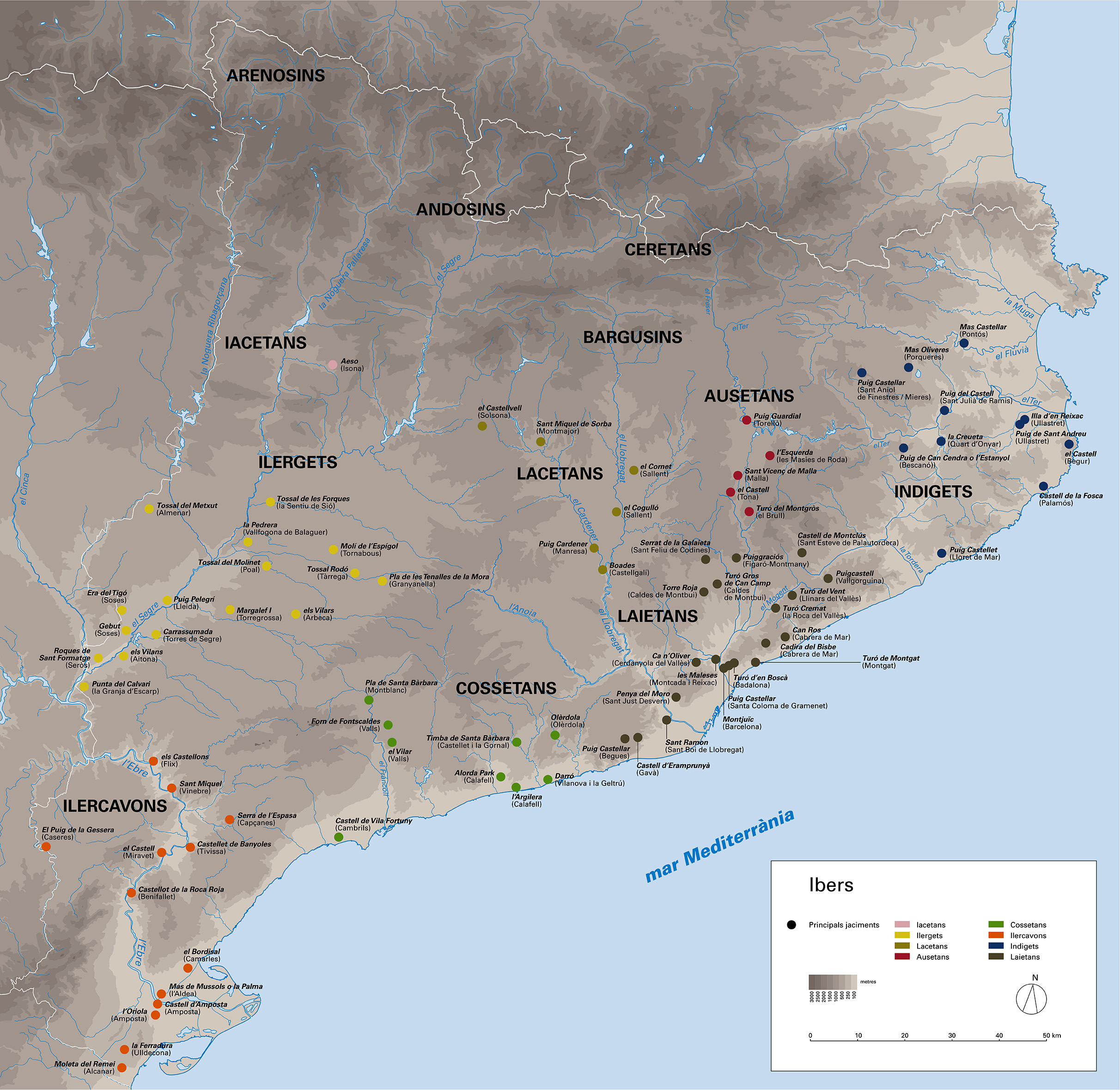 Map of the Iberian sites