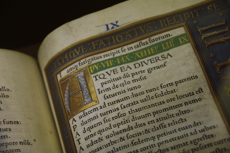 Incunable amb l'obra de Virgili  (s.XV)