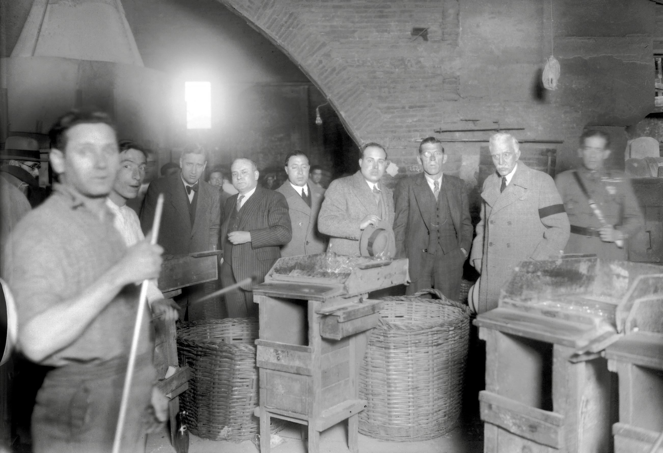 Les Cristalleries de Mataró durant una visita de Macià el 18 de març de 1933